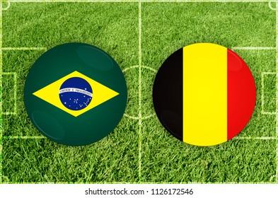 Illustration for Football match Brazil vs Belgium
