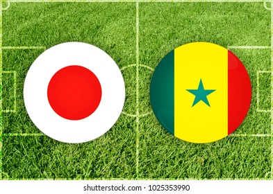 Illustration for Football match Japan vs Senegal