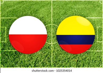 Illustration for Football match Poland vs Colombia