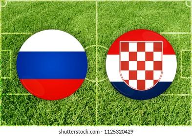 Illustration for Football match Russia vs Croatia