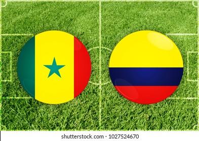 Illustration for Football match Senegal vs Colombia