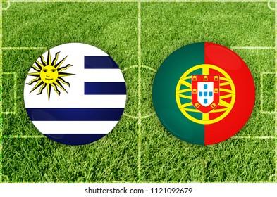 Illustration for Football match Uruguay vs Portugal