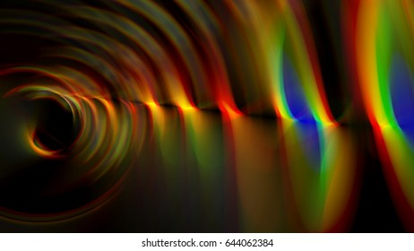 Illustration of fractal geometric colorful waves