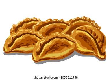 illustration of fresh hot pastries