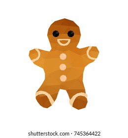 Illustration of funny origami gingerbread