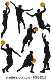 Illustration of the game of basket