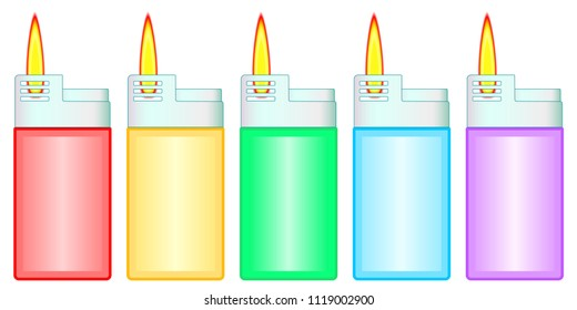 Illustration of the gas lighter set