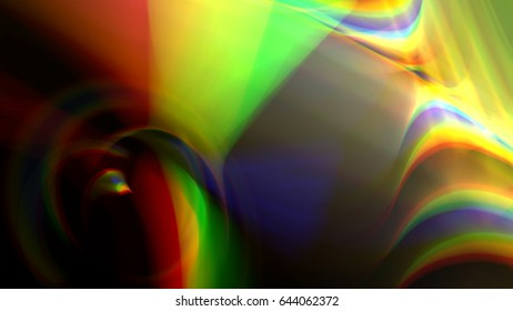Illustration of geometric colorful waves