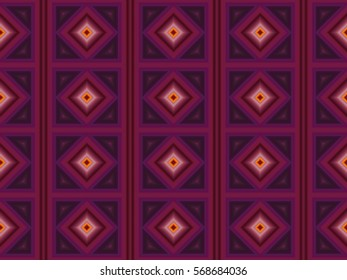 Illustration of geometric seamless tile in mauve and purple.