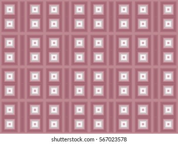 Illustration of geometric seamless tile in monochromatic pink.