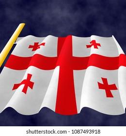 Illustration of Georgian Flag