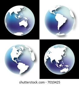a illustration for globe in black & white background