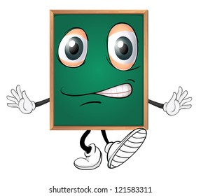 illustration of a green board on a white background
