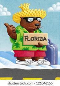 illustration of Groundhog Day