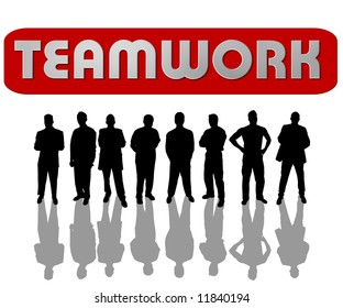 illustration of a group of business people – teamwork