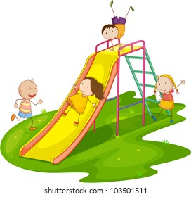 Illustration of group of kids playing - EPS VECTOR format also available in my portfolio.