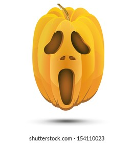 illustration of halloween pumpkin on holiday. Isolated on white background
