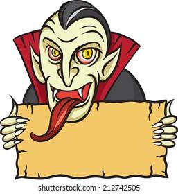 illustration of Halloween vampire