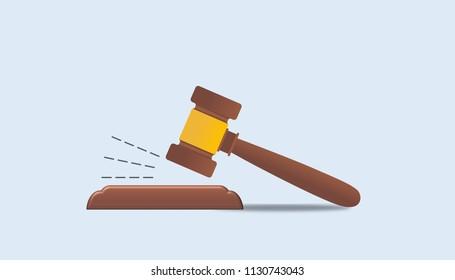Illustration hammer of justice