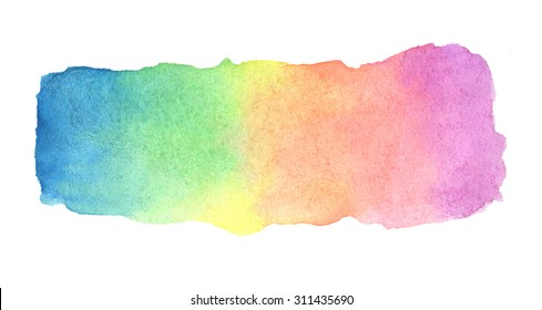 Illustration with hand drawn abstract watercolor background