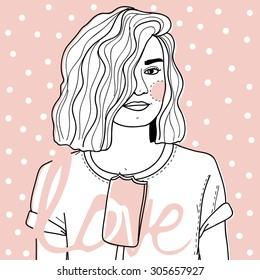 Illustration Ice cream girl
