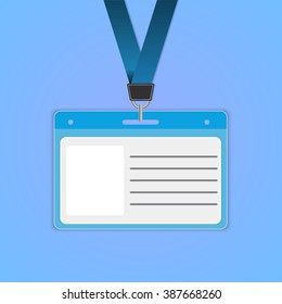 illustration of identification cards with place for photo and text Raster version.