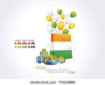 Illustration Of India Republic Day for 26 January