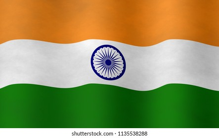 Illustration of an Indian Flag