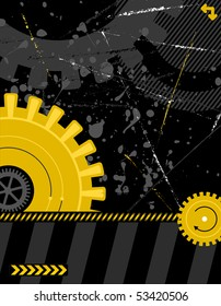 illustration - industrial background with plenty of copy space for your text