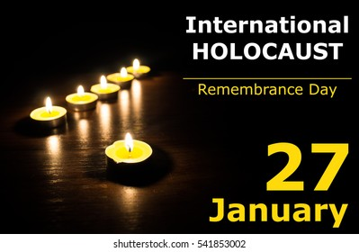 Illustration of International Holocaust Remembrance day at 27 January