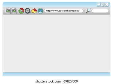 An illustration of an internet web browser with copyspace if required