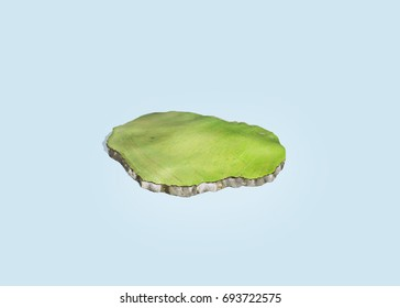 Illustration of an island, continent, earth, 3D illustration