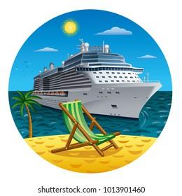 illustration of island journey