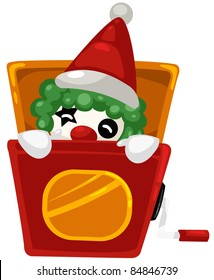 illustration of isolated a christmas box toy on white background