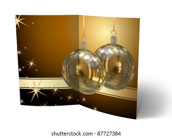 Illustration of Isolated Christmas brochure, greeting card