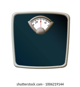 Illustration of isolated scales. Scales for weighing people.