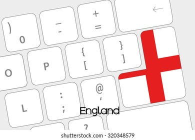 Illustration of a Keyboard with the Enter button being the Flag of England