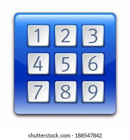 Illustration of keypad