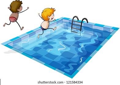 Cartoon Swimming Pool Images Stock Photos Amp Vectors