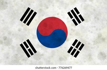 Illustration of Korean Flag
