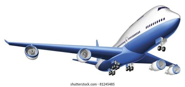 An Illustration of a large passenger plane