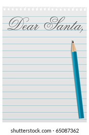 Illustration of a letter to Santa Claus