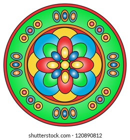 Illustration of a mandala ancient religious symbol