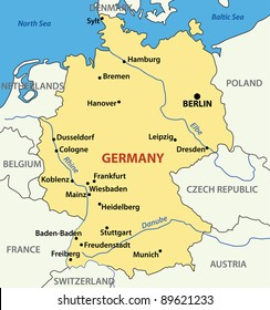 illustration -  map of Germany.