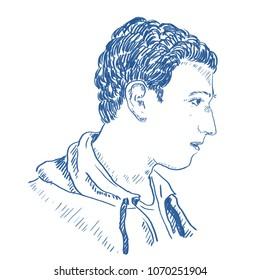 Illustration of Mark Zuckerberg, CEO of Facebook