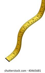 Illustration of measuring yellow tape