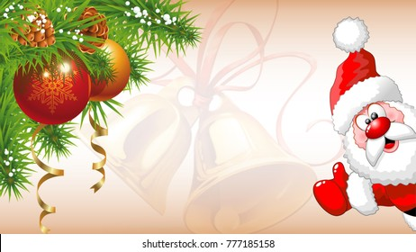 Illustration of Merry Christmas Concept