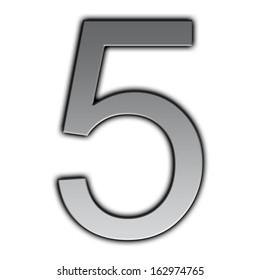 Illustration of metal font - 5