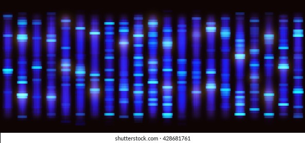 Illustration of a method of DNA sequencing. Image background seamless.