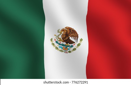Illustration of Mexican flag